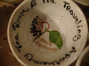 Apthecary tea room cup elderberry