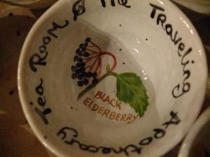 Apthecary tea room cup elderberry